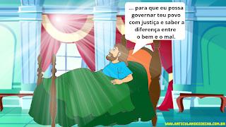 Salomão faz o pedido De sabedoria a Deus
