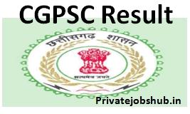 CGPSC Result