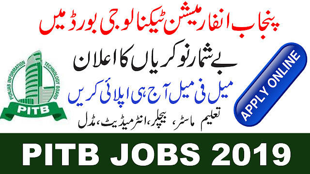 Punjab Information Technology Board New Jobs 2019