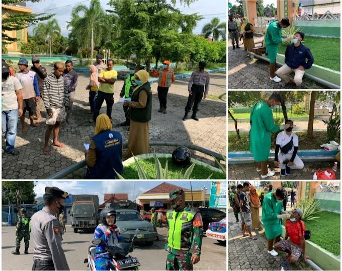 Puluhan Warga Jalani Rapid Test Anti Gen, Saat Operasi Yustisi Depan Masjid Baiturrahman Dompu