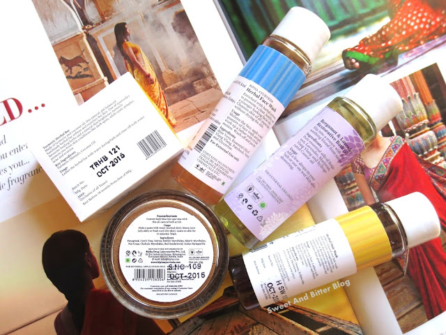 Bipha Ayurveda  Turmeric Herbal Bar, Snanachuram, Herbal Face Wash, Bergamot & Lavender Restorative Bath Oil,  Herbal Hair Wash,