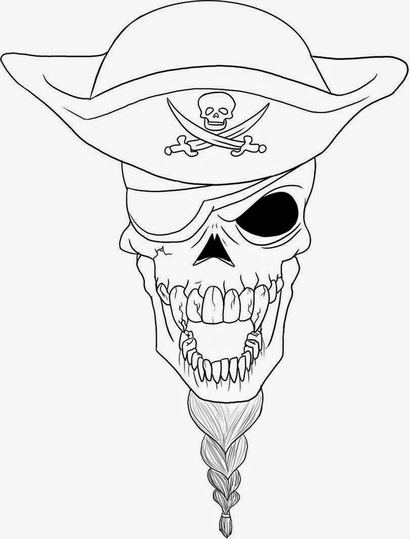 skull coloring pages to print - photo#33