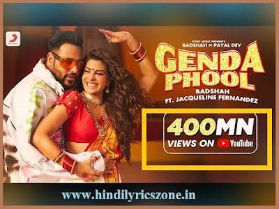 Badshah - Genda Phool Lyrics in Hindi