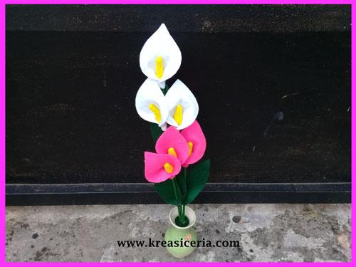 Cara Membuat Bunga Tulip Dari Kain Flanel Simple