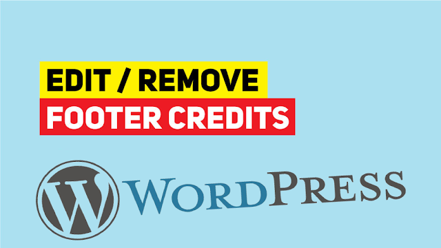 How to Edit and change Footer Copyright Text in any WordPress Theme