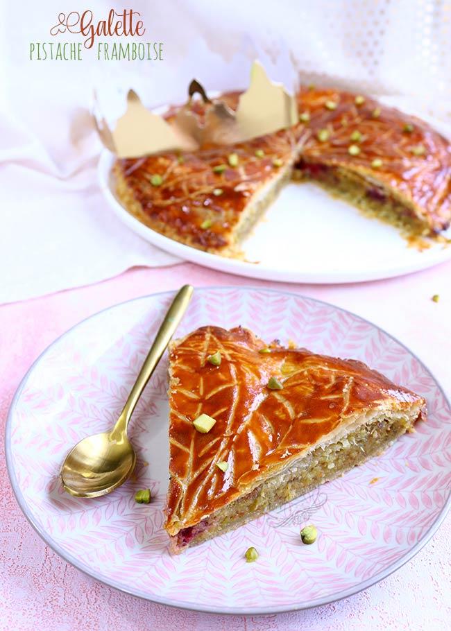 galette des rois framboise pistache recette