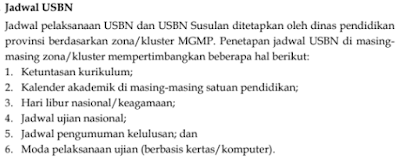 Jadwal Pelaksanaan USBN SMK/MAK