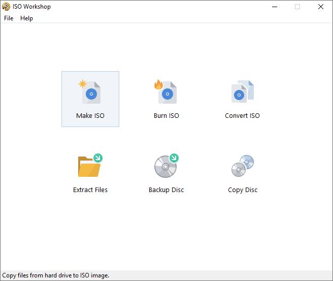 ISO Workshop Main Interface Screenshot