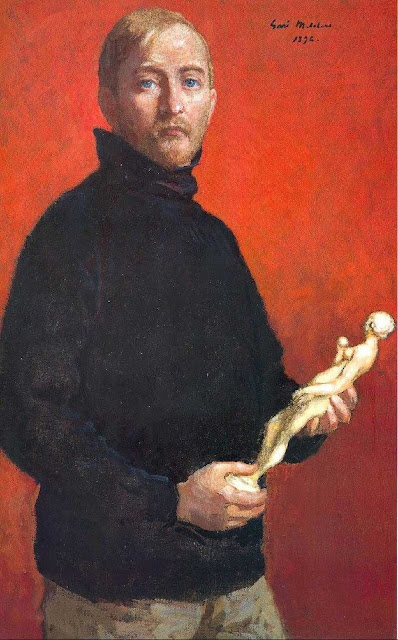 Julius Garibaldi Melchers, Self Portrait, Portraits of Painters, Julius Garibaldi, Fine arts, Portraits of painters blog, Paintings of Julius Garibaldi, Painter Julius Garibaldi