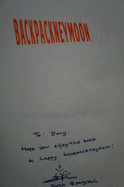 Buku Backpackneymoon karya Susan Natalia Poskitt