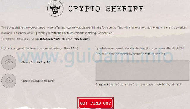 Crypto Sheriff No More Ransomware
