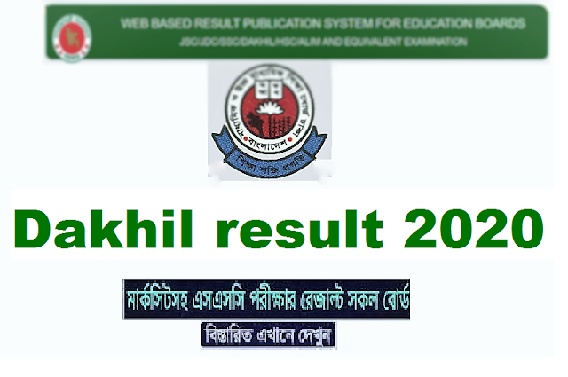 Dakhil result 2020 all education board