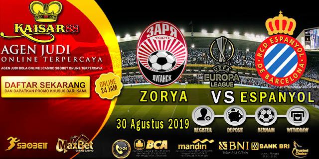 Prediksi Bola Terpercaya Liga UEFA Europa Zorya Luhansk Vs Espanyol 30 Agustus 2019