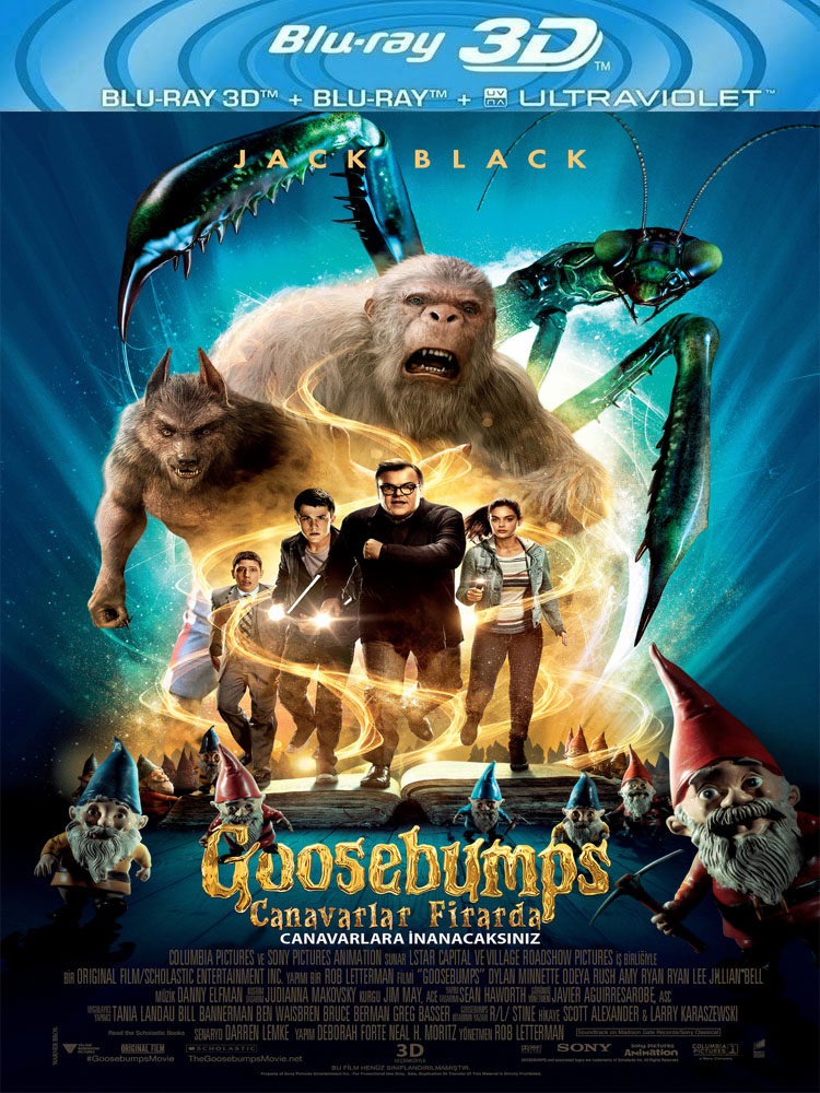 Goosebumps: Canavarlar Firarda (2015) 3D Film indir