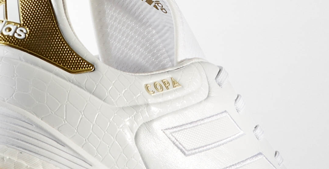 wholesale dealer 5e4bd 49549 17.1 Crowning Glory soccer boots bring a stunning white and golden look to Adidas  Copa ...