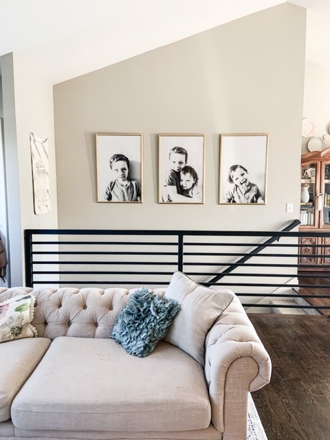 diy gold framed black and white pictures