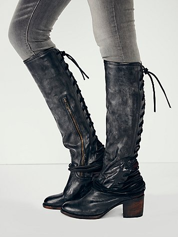 Coal tall lace back boots