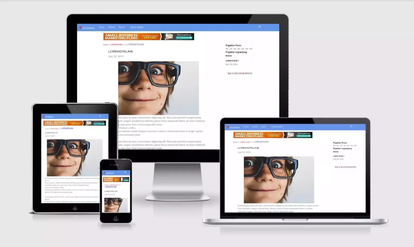 template contempo re-desain dengan widget iklan