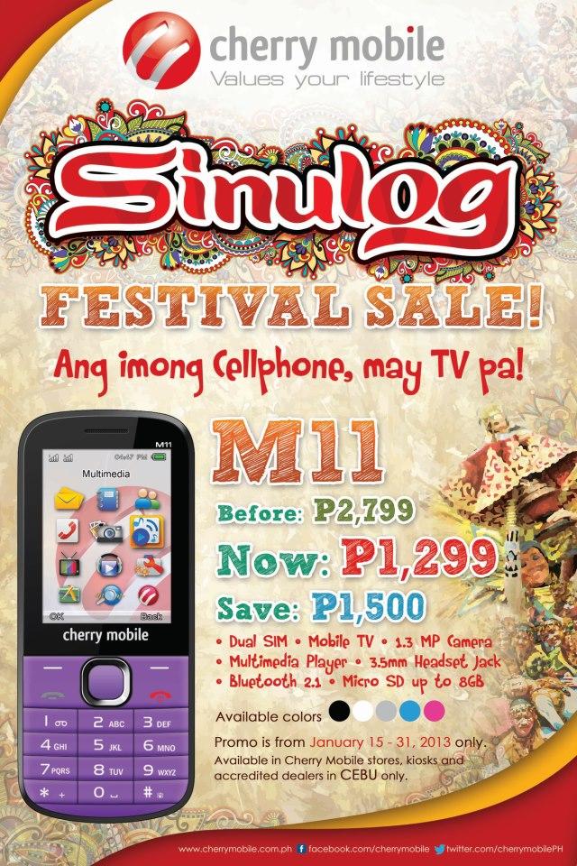 Cherry Mobile M11 Sinulog Festival Sale in Cherry Mobile Stores Cebu