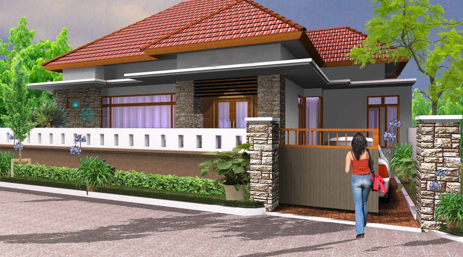 Desain Pagar Rumah Minimalis Bali Arsitekhom
