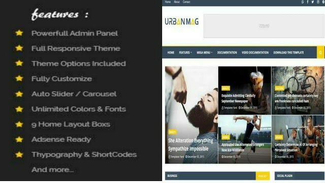 Urban Mag Premium Best Blogger Template