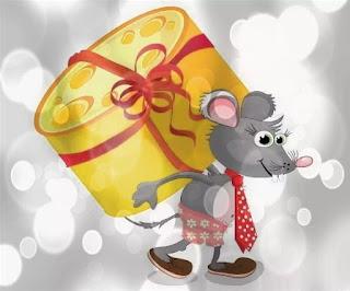美しいはがき幸せな新年のマウスとラット 2021. マウスの年に無料、美しいライブクリスマスカード