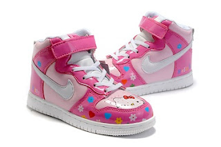 571cc5c5b1 As the previous post saying this time is still the hello kitty nike shoes  ,this post is about the flower pattern nike high tops hello kitty shoes for  kids.