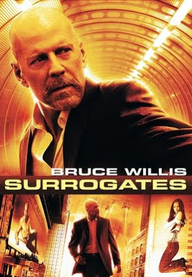 Poster of Surrogates 2009 Hd Hollywood 300Mb Dubbed Dual Audio Downlad