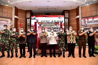 Gubernur Sumut Berharap Deklarasi Tolak Narkoba Jadi Pemacu Semua Elemen Berantas Narkoba
