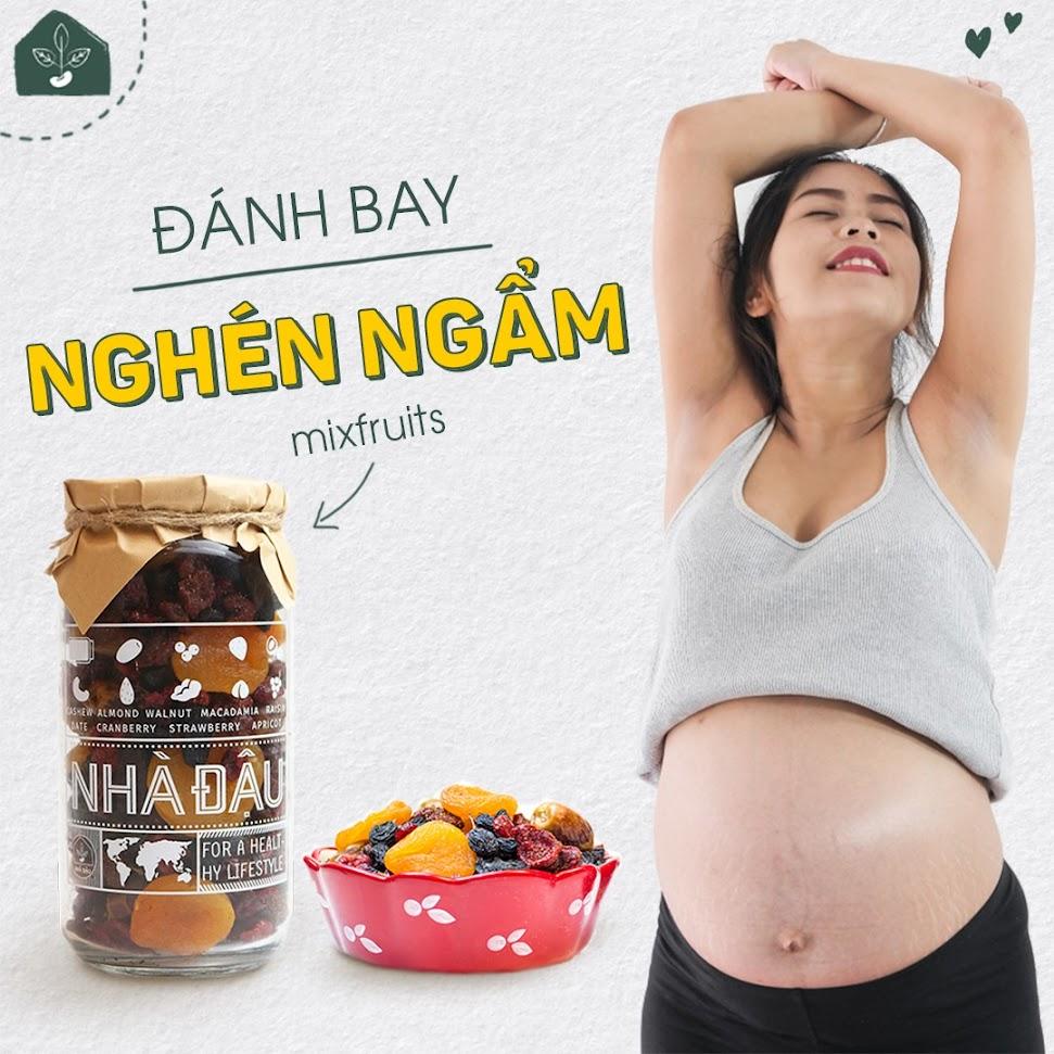 Bổ sung dinh dưỡng cho Mẹ Bầu ốm nghén với 5 loại hạt sau
