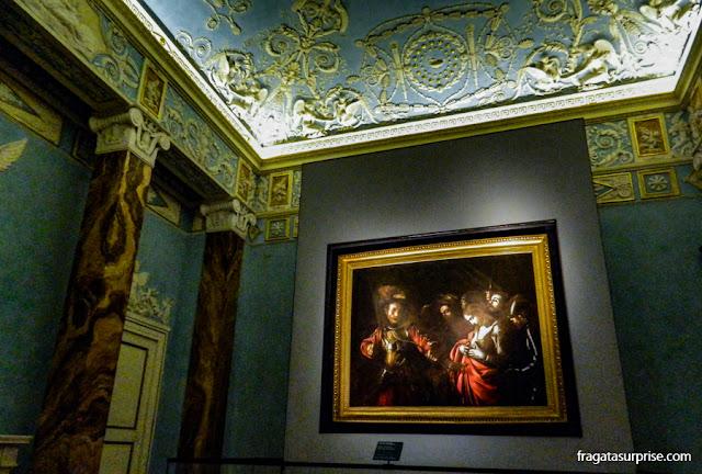 """O Martírio de Santa Úrsula"", última obra pintada por Caravaggio, exposta no Palazzo Zevallos-Stigliano, em Nápoles"