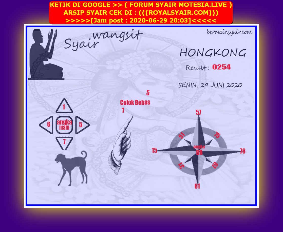 Kode syair Hongkong Senin 29 Juni 2020 121