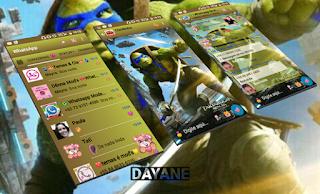 Ninja Turtle Theme For GBWhatsApp By Dayane