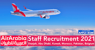 Air Arabia Requirement Cabin Crew and Ground Staff At Sharjah Airport UAE | Apply Online
