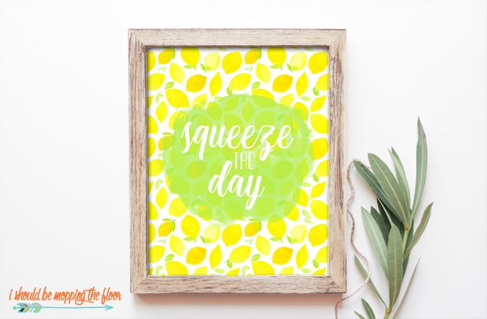 Squeeze the Day Printables