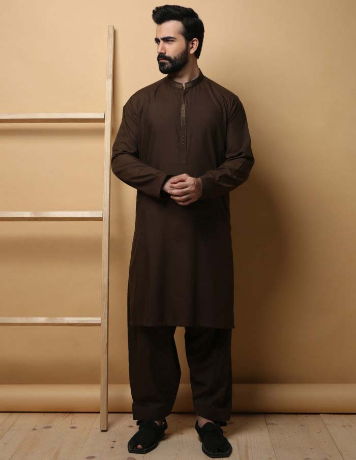 shalwar kurta brown