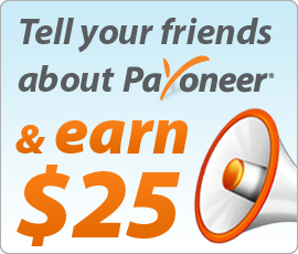 CLAIM YOUR $25 ON PAYONEER