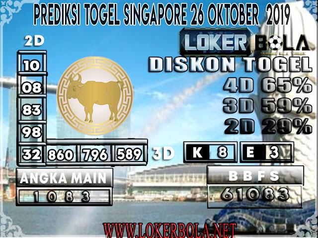 PREDIKSI TOGEL SINGAPORE LOKERBOLA  26 OKTOBER 2019