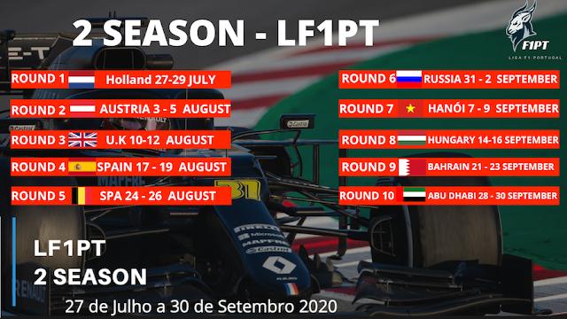 Próxima temporada da Liga F1PT já com calendário definido