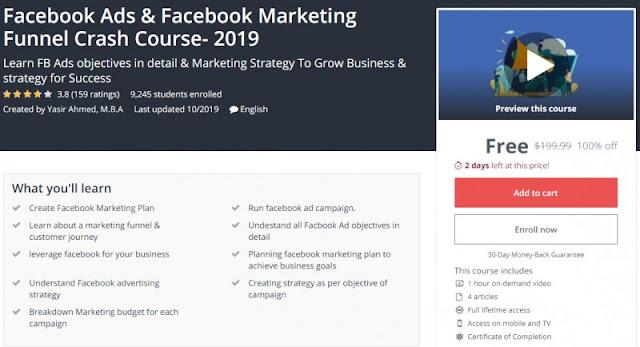 [100% Off] Facebook Ads & Facebook Marketing Funnel Crash Course- 2019| Worth 199,99$