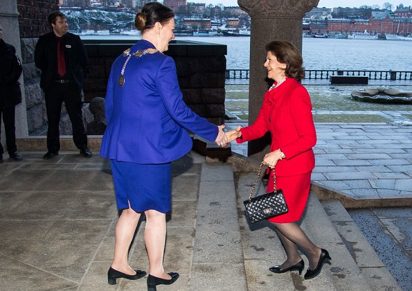Queen Silvia of Sweden attended 10th anniversary of establishment of Swedish Dementia Centre (SDC), held at Stockholm City Hall