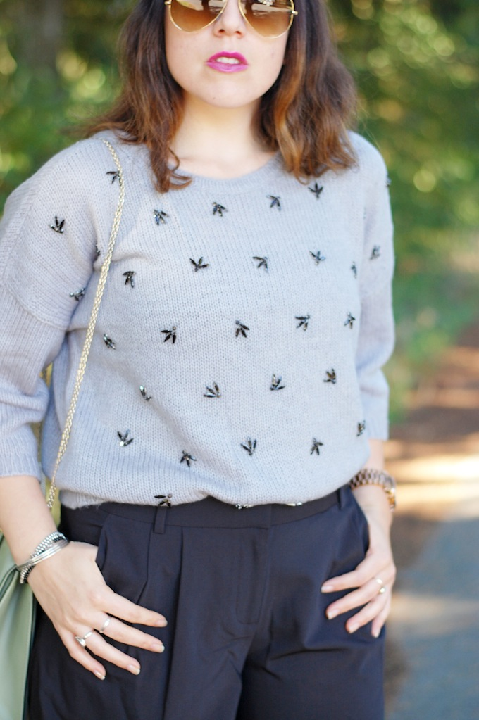 \Ann Taylor embellished sweater Vancouver fashion blogger