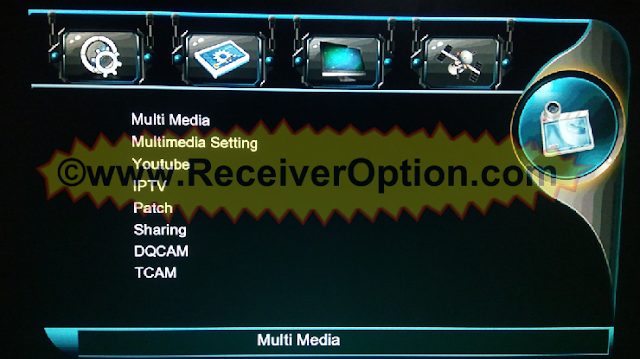 MULTI MEDIA 1506T NEW SOFTWARE WITH XTREAM IPTV & TCAM
