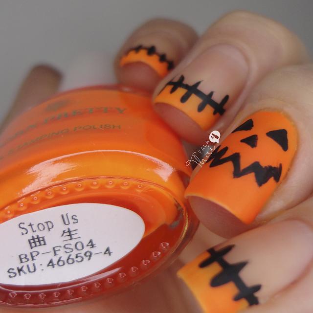 unha decorada halloween abobora