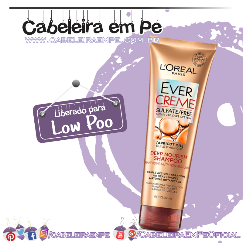 Shampoo Ever Creme - L'Oréal Paris (Low Poo)