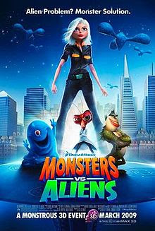 Monster vs Aliens (2009) Animation movie HD