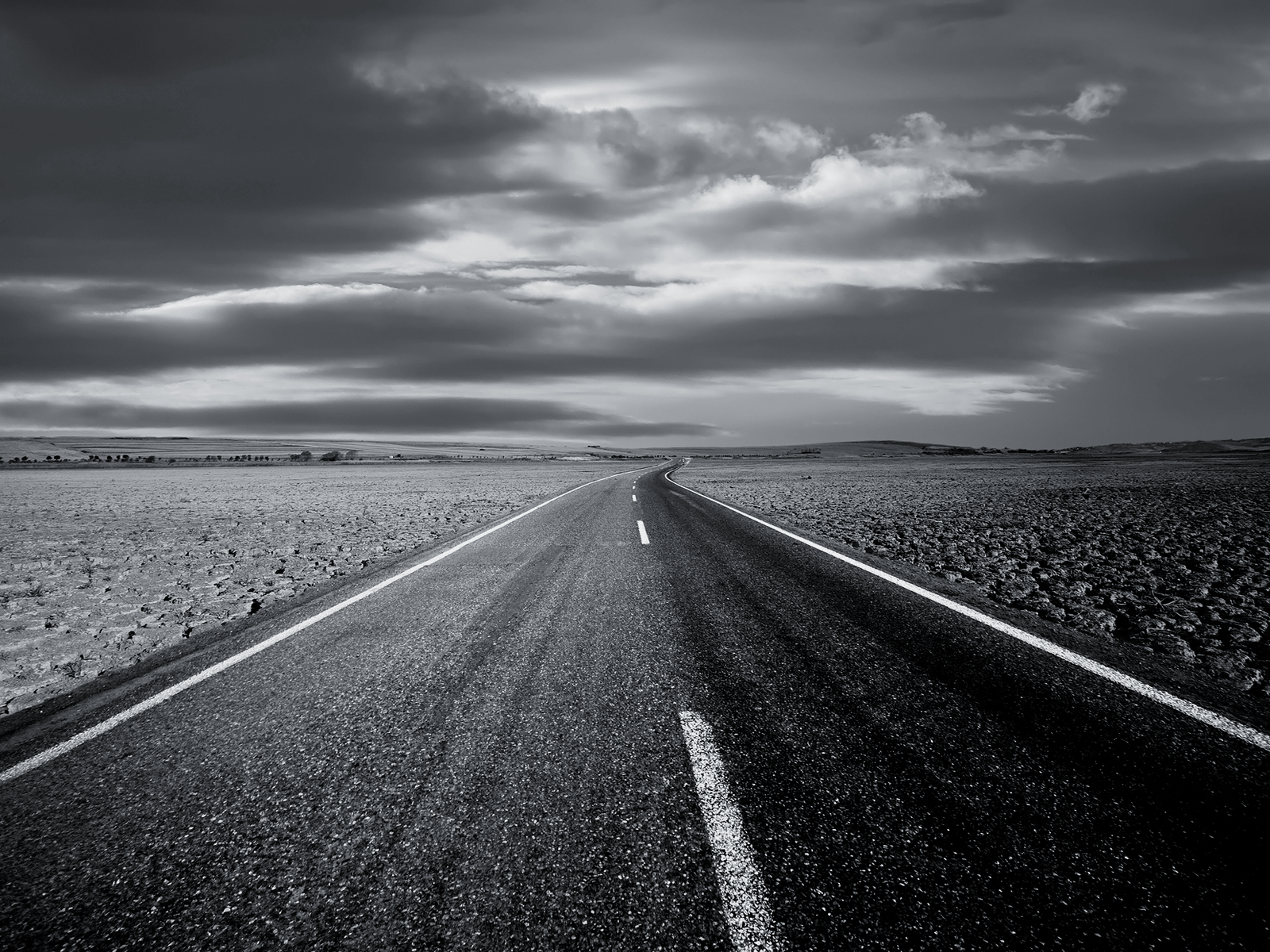 open road wallpaper black and white