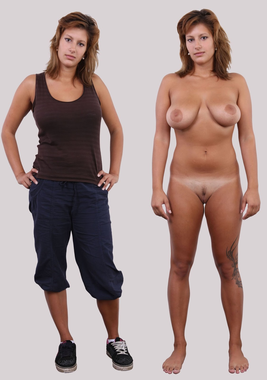 Women Clothed Naked