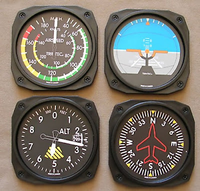 Airplane Instrument Coasters