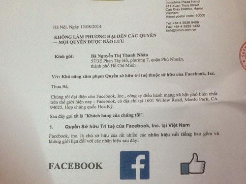 """Facebook """"dọa kiện"""" một nhà hàng """"trùng tên"""" ở Việt Nam"""
